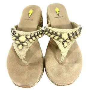 VOLATILE Natual Stones Snakeskin Leather Upper Wed